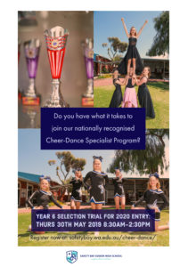Cheer-Dance Specialist Program Year 6 Selection Trial