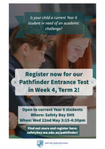 Pathfinder Entrance Test for current Year 6 students @ Safety Bay Senior High School